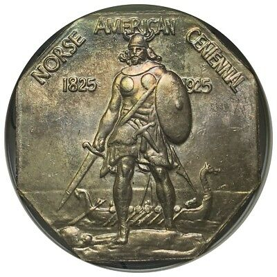 1925 Norse American Medal Thin MS63