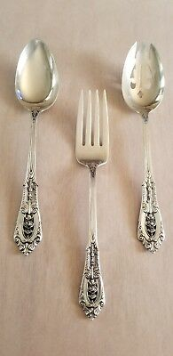 Wallace Rose Point Sterling Silver Serving Set