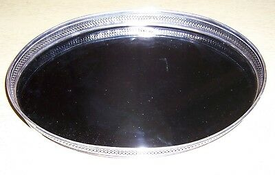 Antique Revere Silver Company Oval Sterling Silver And Formica Serving Tray