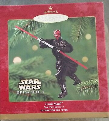"2000 Hallmark Star Wars Episode 1 ""darth Maul"" Ornament New Unopened"