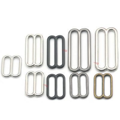 "Metal Widemouth Triglides Slides Buckle 20 25 38 50mm 3/4"" 1"" 1.5"" 2"" Strap Bags"
