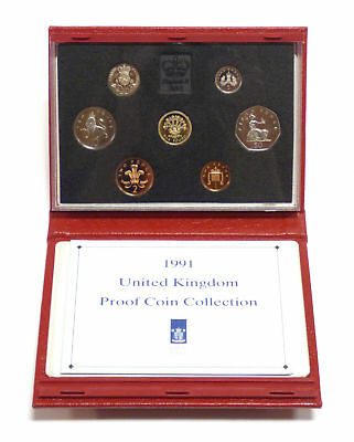 1991 United Kingdom Proof Coin Collection w/ Case