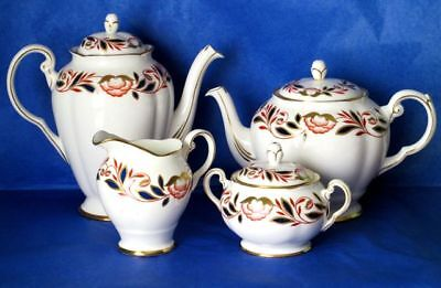 Royal Chelsea Exquisite DYNASTY Tea & Coffee Set, Bone China Four Pieces