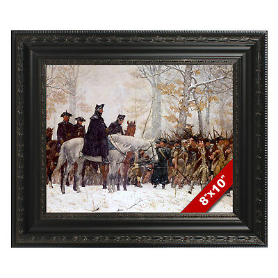 Framed George Washington At Valley Forge Painting Canvas Giclee 8X10 Art Print