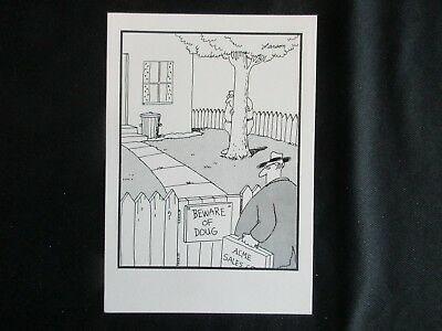The Far Side Postcard - Vintage 80's - New - Beware of DOUG (Hiding Behind Tree)
