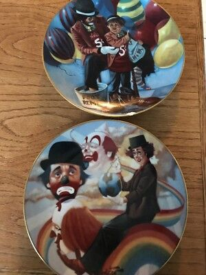 2 Plates From The Wonderful World Of Clowns Collection
