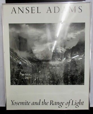 Ansel Adams Yosemite + Range Of Light B + W Art Poster