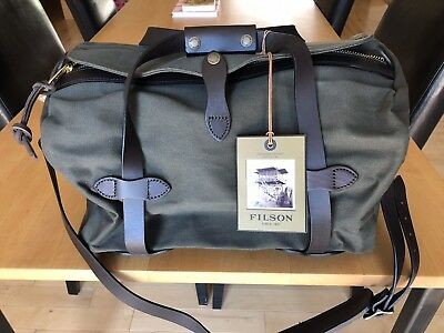 866811d0fc62 FILSON SMALL DUFFLE Otter Green New -  215.00