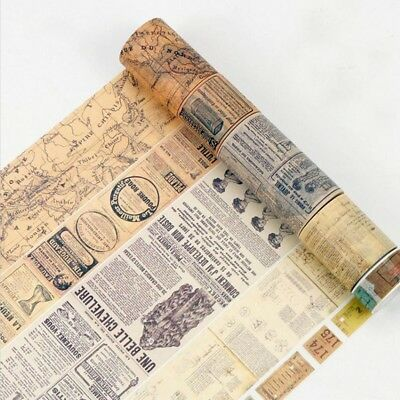 8 Meters Vintage Washi Paper Masking Adhesive Tapes Decorative TapeA