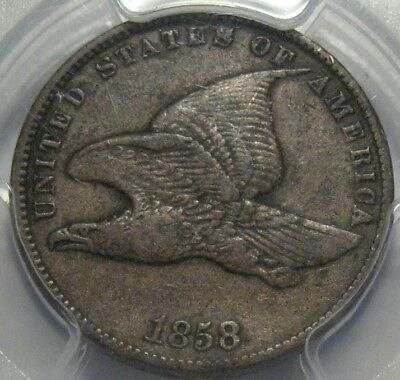 = 1858 PCGS VF35 Flying EAGLE Cent, SMALL LETTERS, FREE Shipping