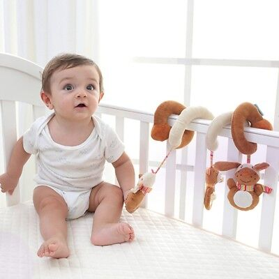 Infant Baby Activity Spiral Bed&Stroller Toy Baby Pram Chains Plush Toy Gift
