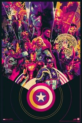 SDCC 2018 Mondo Marvel Cinematic 10th Anniversary Variant Poster Signed #68/325