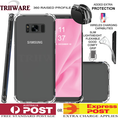Samsung Galaxy S9 S8 Plus Note 8 Case Shockproof Silicone Clear Gel Bumper Cover