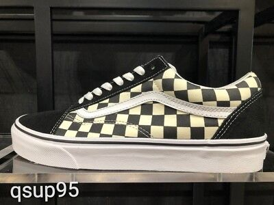 VANS OLD SKOOL BMX Checkerboard White Black Canvas Size 8-13 New ... 851ed3450