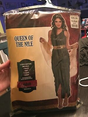 queen of the nile halloween costume size 6-8 black