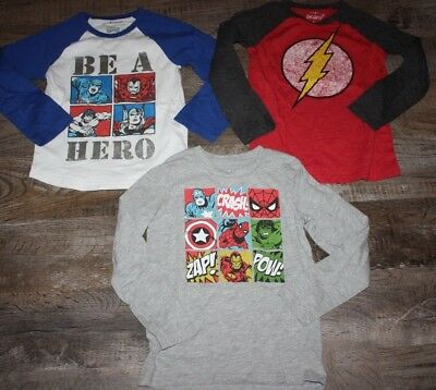 Gymboree Jumping Beans The Flash Marvel Captain Spider Man Shirt Lot 5/6