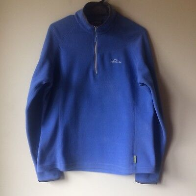Kathmandu Altica 100 Size 14 Fleece Quarter Zip Mid Layer Blue And Grey - GUC