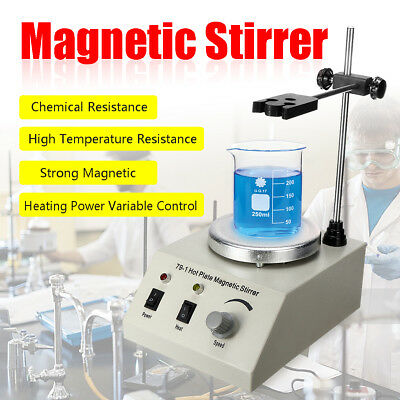1000ML Magnetic Stirrer Mixer Machine wi/ Heating Hot Plate Laboratory 220V