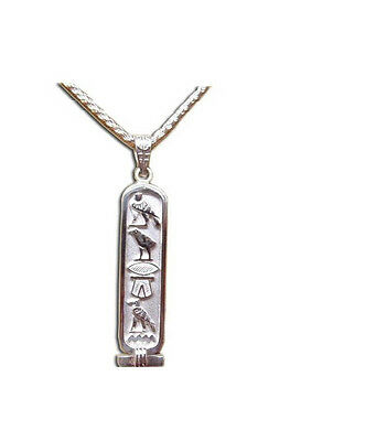 Personalized Double Sided Sterling Silver Cartouche- Egyptian Pendant