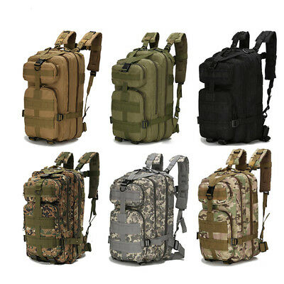 Mens 30L/45L Military Tactical Army Rucksacks Molle Backpack Camping Hiking Bag