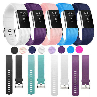 Soft Accessory Replacement Wristbands Bracelet Band Strap For Fitbit Charge 2
