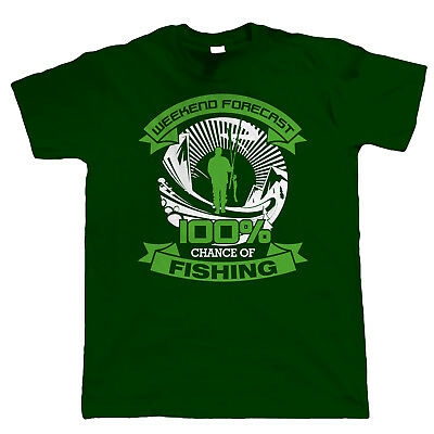 Weekend Forecast Fishing T Shirt - Carp Sea Fly Fathers Day Birthday Gift Dad
