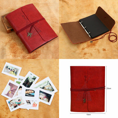 60 Pages Photo Album Scrapbook Retro DIY Manual Album Camera Film Gifts Black
