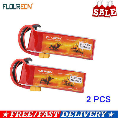 2X 3S 30C 11.1V 4500mAh Lipo Battery Deans Plug for RC Car Tuck Airplane Drone