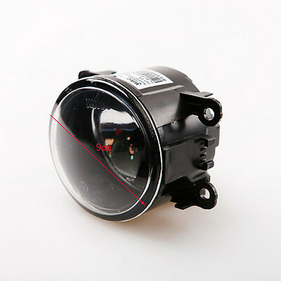 90mm Car Front Round Fog Light Lamp Bulb Fit Day Driving Beam black Projector