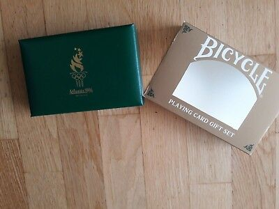 1996 Atlanta Olympics Bicycle Spielkarten Gift Collection Set Limited Edition