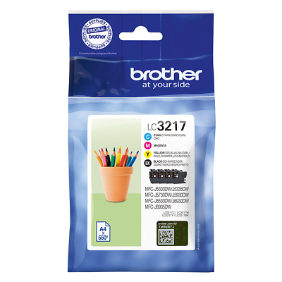 Genuine Brother LC3217 VAL 4 Colour Ink Cartridge MultiPack For MFC-J6530DW