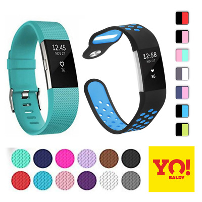 For Fitbit Charge 2 Strap  Replacement Silicone Sports Wrist Band Small & Large