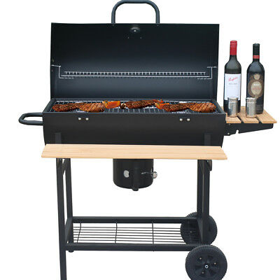 BBQ Grill Holzkohlegrill Holzkohle Grillwagen Smoker Barbecue Grill Standgrill