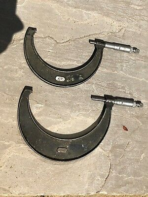 """Moore And Wright Imperial Micrometer Set 4-5"""" And 5-6"""""""