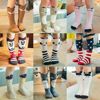 For Age 0-6Y Baby Kids Toddler Girls Knee High Socks Tight Leg Warmer Stockings