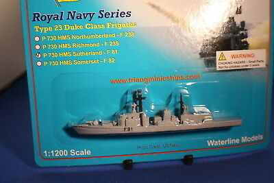 HMS Sutherland  F81 Triang Minic Ships Type 23 Frigate mint carded.