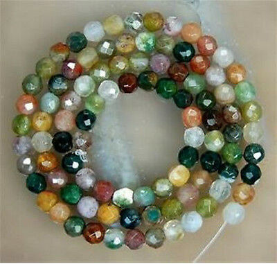 new 8mm faceted Watermelon Tourmaline Gems Round loose Bead 15''