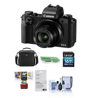 Canon PowerShot G5 X Digital Camera with Free Mac Accessories Kit, Black