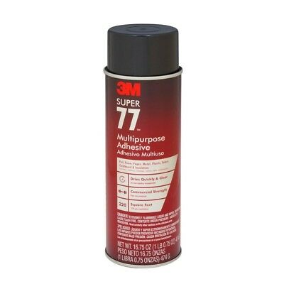 3M Adhesive Super 77 Aerosol 16.75oz Spray Can Multi-Purpose Glue 76098 21210