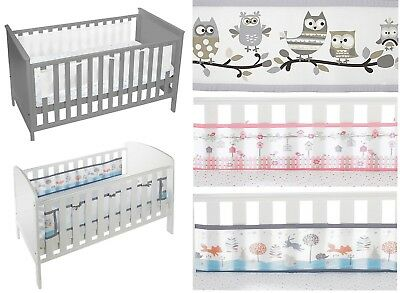 Breathable Baby 2-Sided Mesh Liner for Cot & Cotbed with Solid Ends
