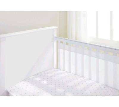 Breathable Baby 2-Sided Airflow Mesh Liner for Cots & Cotbeds with Solid Ends