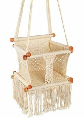 Baby Macrame Handmade Swing/Boho Swing/Hanging Baby Chair/Hammock Chair Swing