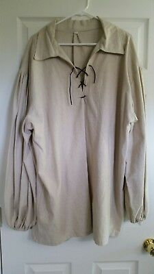 Large Medieval Renaissance Pirate Linen shirt Costume Cosplay