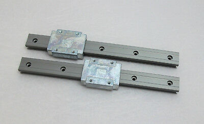 Qty 2 - Igus Drylin T linear carriage TW-04-15 and rail TS-04-15
