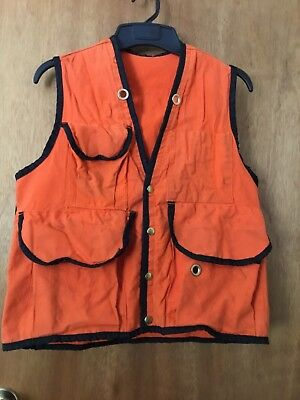 Preowned Cruiser Vest safety orange SMALL to MEDIUM excellent sturdy POCKETS