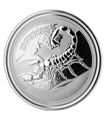 Lot of 5 - 2017 $1 1oz Silver Chad Deathstalker Scorpion .999 BU (Proof-Like)