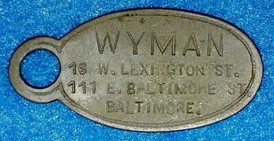 Wyman (Baltimore) Charge Coin