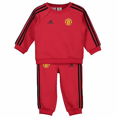 Manchester United 3 Stripe Baby Jogger Red Infant & adidas