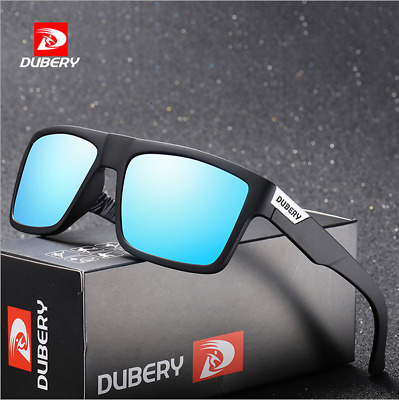 DUBERY Mens Sport Polarized Sunglasses Outdoor Riding Fishing Square Glasses New