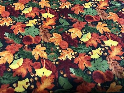 Fall Leaves Fabric Liner Only Longaberger Bread Basket